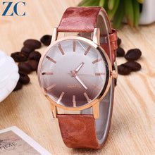 Off Color Plate Analog Quartz Watch For Women