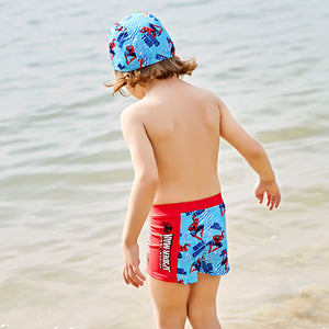 Spiderman beach shorts summer kids boys short pants for Swimming cartoon swimming trunks board shorts kids