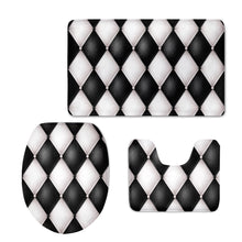 3Pcs/Set Gorgeous Bathroom Mat Toilet Rug Soft Flannel Non-slip Bath Mats Bathroom Rugs and Carpets