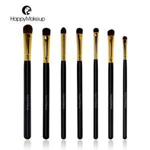 HAPPY MAKE UP 7 pcs/Set Horse Hair Makeup Brushes Set (1 set)