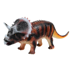 Rubber Triceratops Jurassic Dinosaur Model Big Size Rubber Toys