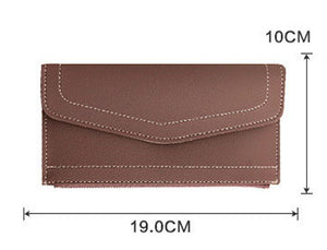 The Bottom Of The Envelope Zipper Wallet Lady Korean Version Of The Long Purse Women's Hand Bag PU Card