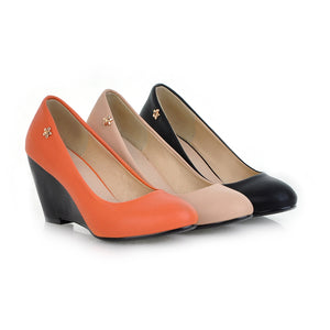 Office Lady Wedges Classical Color All Matching