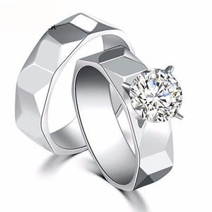 New Titanium Steel Ring With A Multi-Faceted Irregular Ring For Women