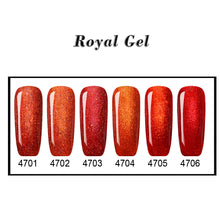 FIRE FLAME Nail Art Foil Nail Polish Gel Red Serial 6 Colors Optional