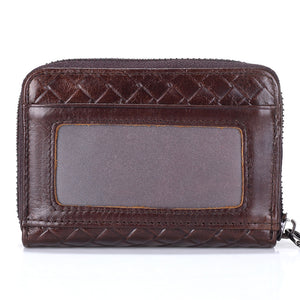 Business Men Card Holder Cards Men Card Pack Real Leather Card Holder Zipper Credit Card
