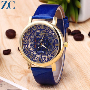 Nets Pattern Plate Luster Band Watches for Daily Fashion