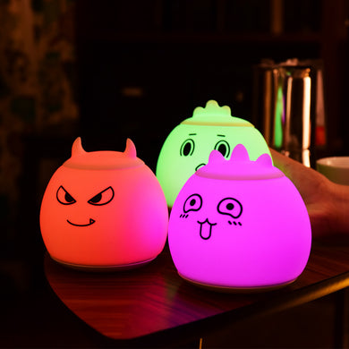 7 Colorful Multiple Shape Silicone LED Night Light Rechargeable DC5V Night Lights Children Cute Night Lamp Bedroom Kid Light
