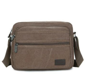 New European And American Fashion Retro Twill Waterproof Canvas Men's Shoulder Bag