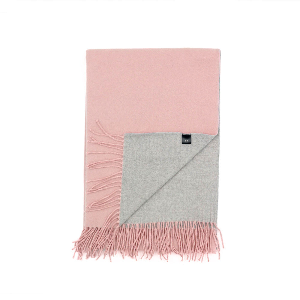 Solid Color Fashion Women's Scarves with Fringes