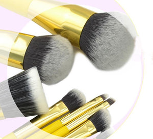 8 pcs/Set Lemon Yellow Makeup Brushes Set (1 set)