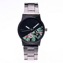 Female Casual  Floral Pattern Tungsten Steel Watches