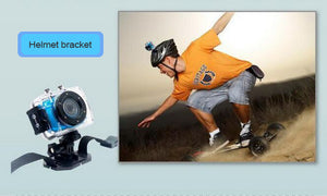 Action Camera HD 1.3M Waterproof Mini Cam Pro Double Screen Cycle Sports Camera