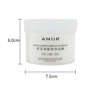 AMIIR Instant Clean Moisturizing Makeup Removal Ice Film Oil Control Skin Care (100 slice)