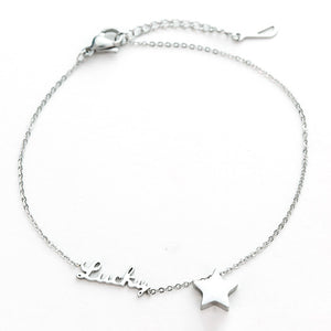 LUCKY and Star Gems Fashion Bracelet