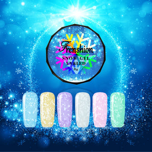 JELLY Nail Art Snow Flakes Pattern Nail Polish Gel 6 Colors Optional