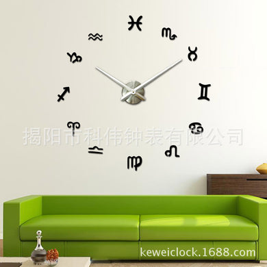 Fashion 3D Big Size Wall Clock DIY wall clock large stickers birthday clock Wall Unique gift Whole sale