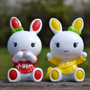 Young Rabbit Cartoon Arts And Crafts Small Vehicle Indoor Fall Cute Gifts
