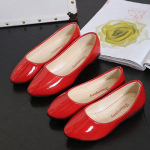 Classical Color Flat Pump Shoes for Ladies