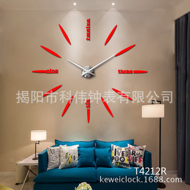 Special Large Quartz Mirror Sticker DIY Large Living Room House Beautiful Creative Large Wall Clock