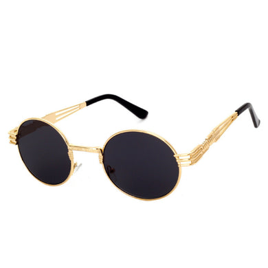 Round Circle Sunglasses with Metal Threads Frames