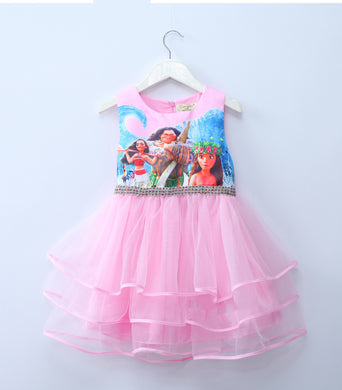 Girl Princess Lace Dress Anna Elsa Dress Snow Queen Halloween Party Role-play Costume Children Dress