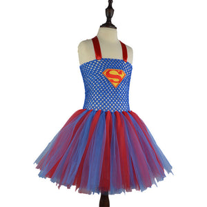 Halter Neck Super Heroes Jumpsuit Costumes for Girls