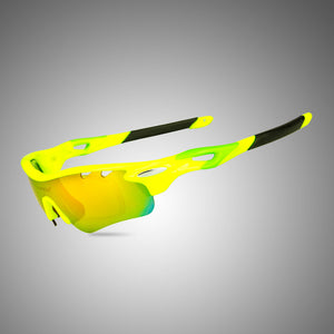 Anti Glare Driving Lens Sunglasses Wrap Semi Rimless Sports Eyewear