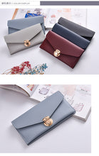 Long Envelope Shaped Female Purse Simple Style