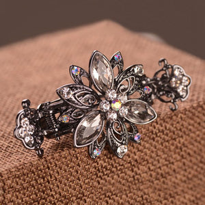 Hot Style Classic Vintage Lady Hairpin With Diamond Alloy Hairdressing Crab Clip