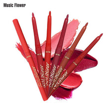 MUSIC FLOWER 12 Colors Choices Lip Liners Matte Color Long Lasting Makeup