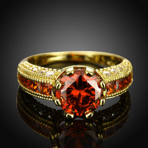 Zircon Gemstone Golden Plated Rings for Women