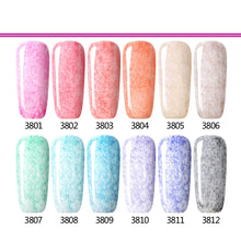 Nail Polish Gel Velvet and Feather Pattern 12 Colors Optional
