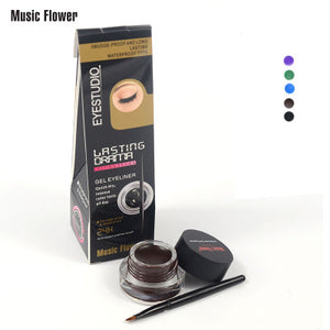 MUSIC FLOWER Waterproof Long Lasting Eyeliner 5 Colors Available