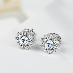 Silver Tiara Earrings Fashion Earrings (1 pair)