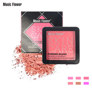 Music Flower Single Tone Blusher Matte Natural Nude Makeup Blush