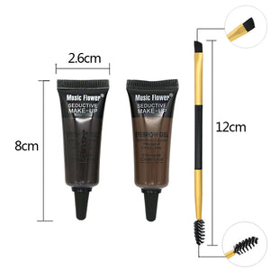 MUSIC FLOWER Durable Waterproof Eyebrow Gel and Mascara Gel Including Brush (1 box)
