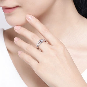 Electroplating Zircon Rhinestone Detail Rings for Women