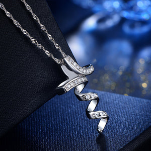 ELF Curly Cross Zircon Detail Necklace Pendant (pendant only)