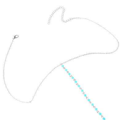 Boho Fashion Small Crystal Beads Net Harness Necklace Golden Color Waist Chain Women Jewelry Sexy Bikini Metal Body Chain
