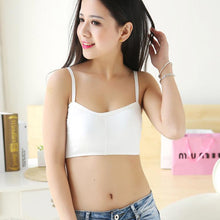 Strap Crop Tank Tops Bustier Back Hollow Out Padded Bra Wireless Bra