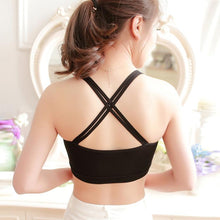 Sexy Strape Criss Cross Padded Bustier Bra Tops for Women