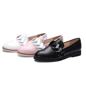 New Arrival Color Blocks Flat Slip On Shoes