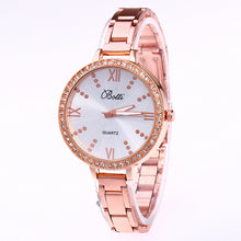 Roman Number Alloy Watch Quartz Watch Thin Belt