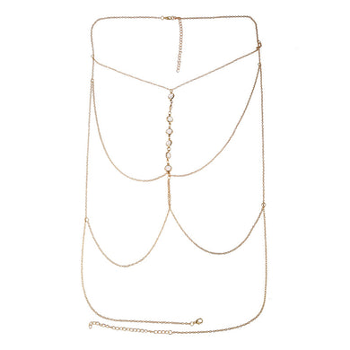 Chain necklace women Multilayer Sexy Beach Bikini Harness Necklace for Women sumer beach jewelry