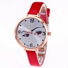 Fashionable Thin Belt Eyebrow Female Watch