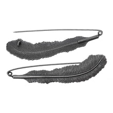 3-Pac Black Antique Silver Feather Brooch Pin Catch Bar Locking Pin (3 pcs/pack)