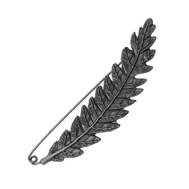 3-pac Black Antique Silver Feather Brooch Pin Daily Dress Accessories for Women (3 pcs/pack)