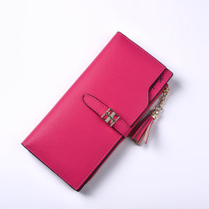 Female multifunctional Purse with Tassel Buckle