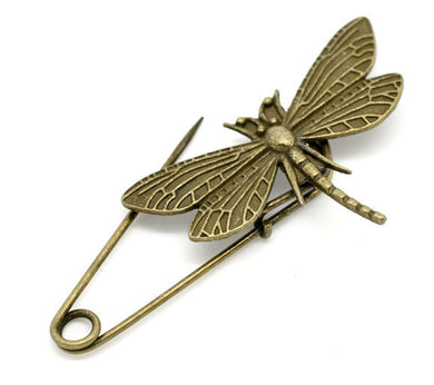 10psc in Pack Bronze Dragonfly Brooch Pin Catch Bar Locking Pin  (10 pcs/pack)